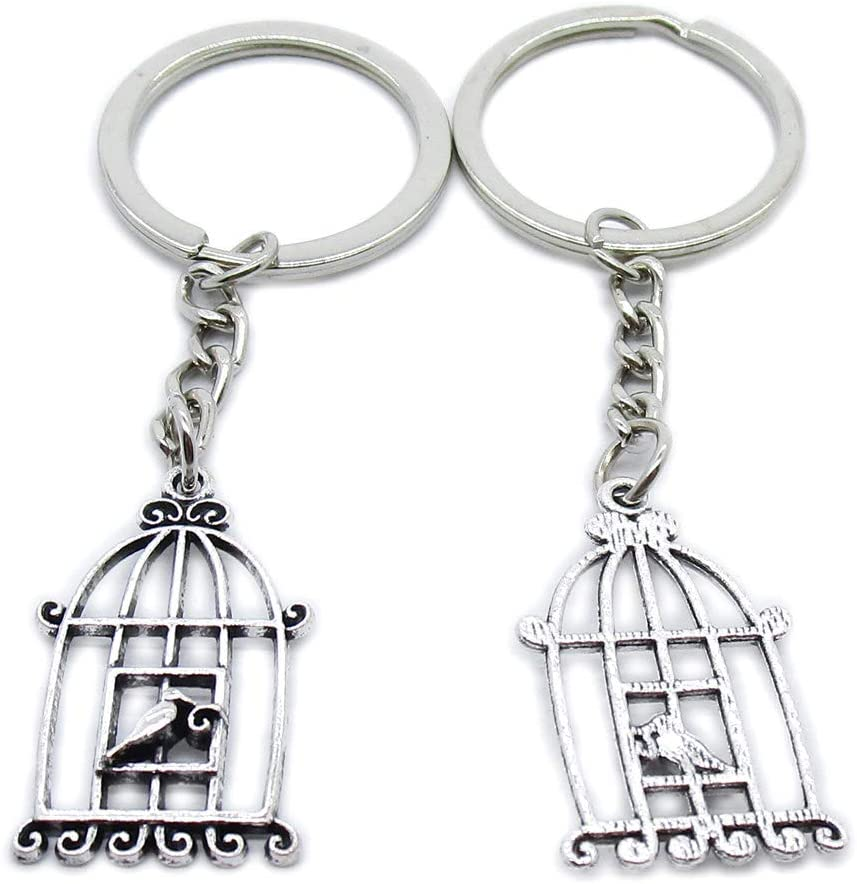 10 Pieces Keychain Keyring Door Car Key Chain Ring Tag Wholesale Supplier Clasps HV6T8U Bird Cage Birdcage