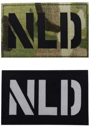 NLD The Netherlands Flag Infrared Reflective IR Patch Military Tactical Morale Patch Badges Emblem Applique Hook Patches for Clothes Backpack Accessories
