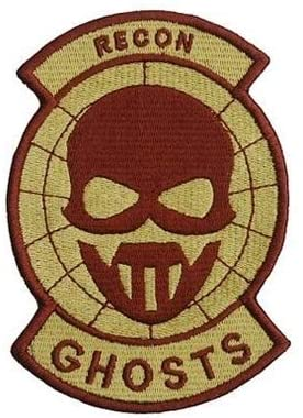 Ghost Recon Embroidery Patch Military Tactical Morale Patch Badges Emblem Applique Hook Patches for Clothes Backpack Accessories