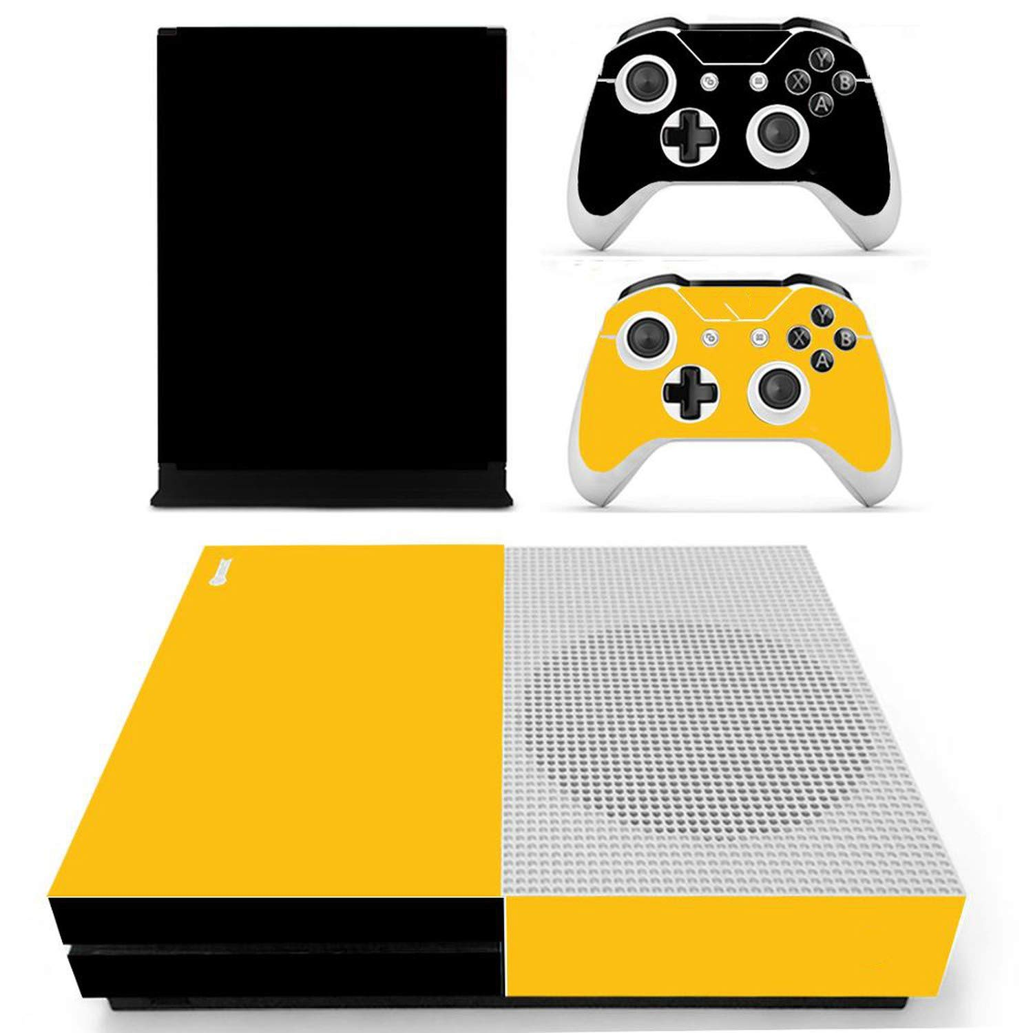 For Xbox One S Slim Console Vinyl Decal Sticker Skin For XBOX One S Console With Two Wireless Controller,0081
