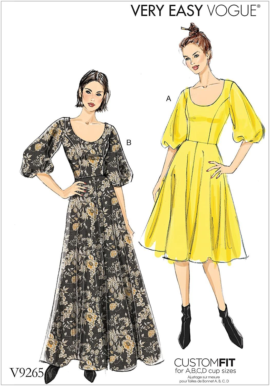 Vogue Patterns Flare Dress, 6-8-10-12-14, Red