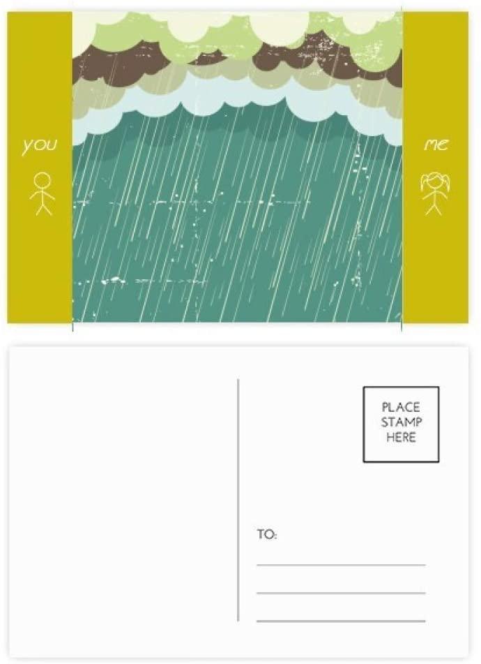 Rain Cloud Sea Weather Pattern Friend Postcard Set Thanks Card Mailing Side 20pcs