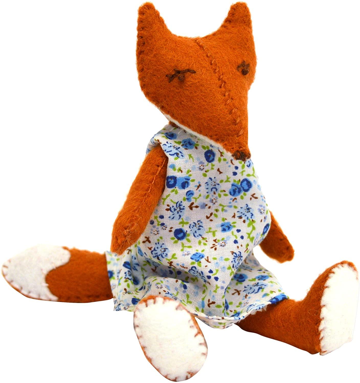 Corinne Lapierre Felt Philippa Fox Sewing Craft Kit, 13 x 7 x 3 cm, Brown