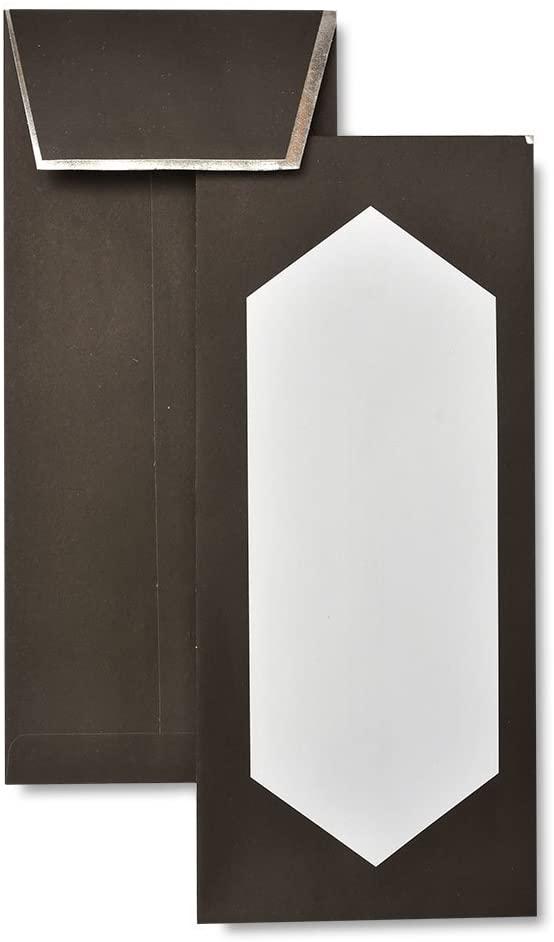 Gartner Studios Black & Silver Foil Side-Flap #10 Envelopes, 20 count