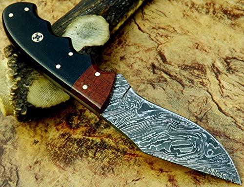 Damascus steel custom hand made 8.50 Inches Damascus Steel Skinner knife