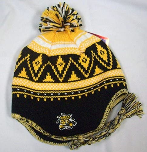 adidas NCAA Wichita State Shockers Knit Hat with Pom and Tassel KD65Z