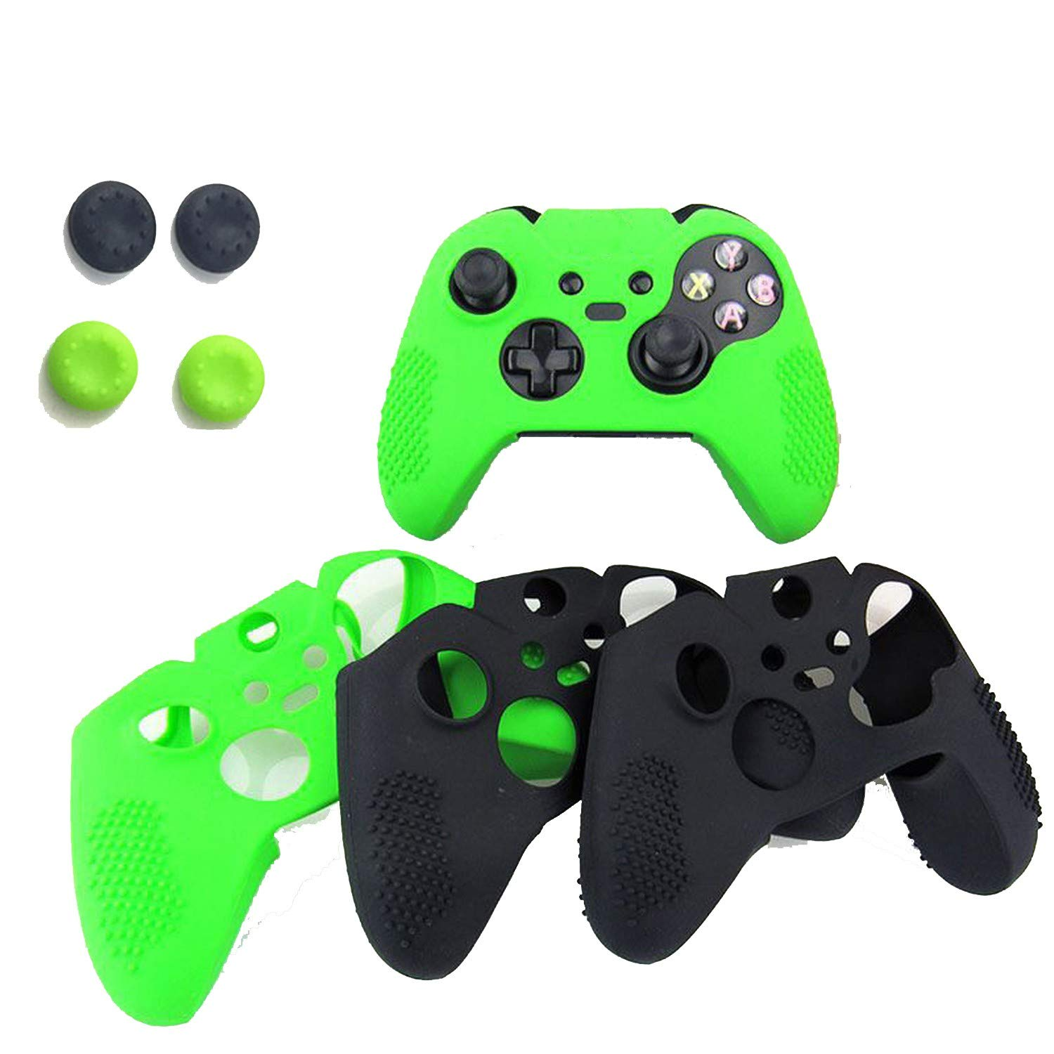 Flexible Antislip Silicone Soft guards Skin Protective Case Cover Protector for Xbox One Controller Xbox one Elite+silicone Case,White