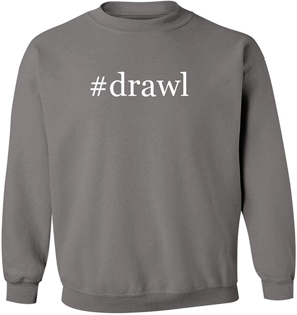 #drawl - Men's Hashtag Pullover Crewneck Sweatshirt, Grey, Large