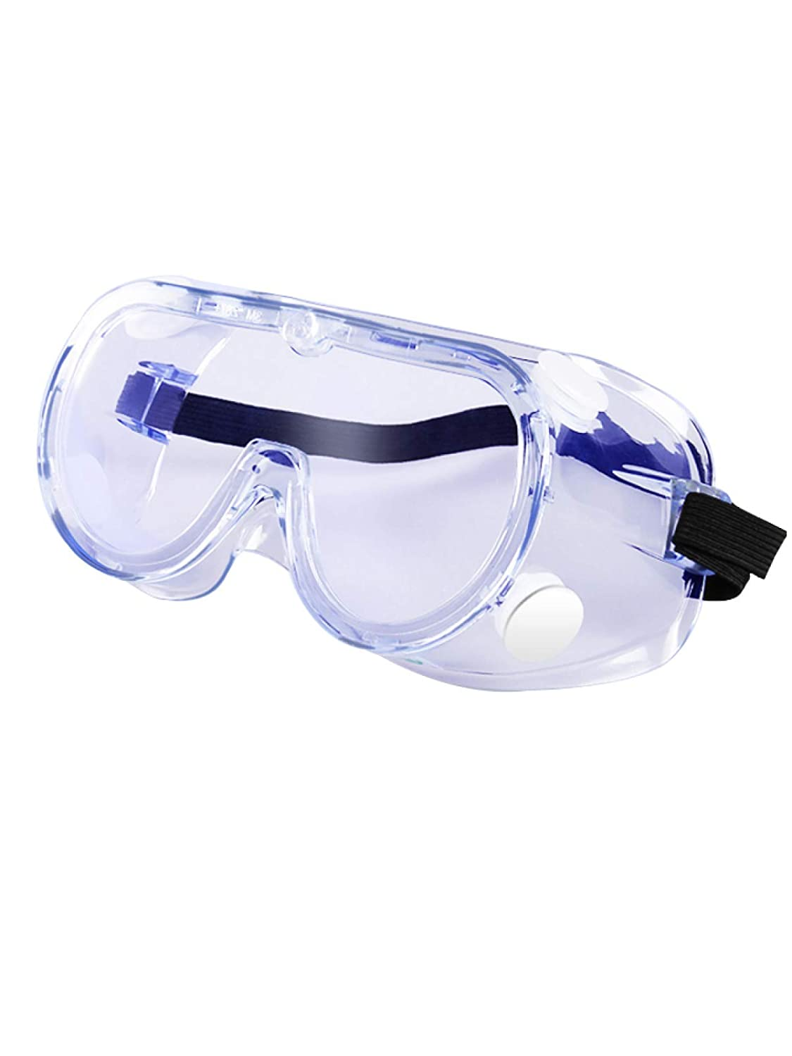 Protective Safety Goggle Glasses Anti-Fog Against Liquid Splash Clear Lens Wide-Vision Adjustable Eye Protection for Home & Workplace