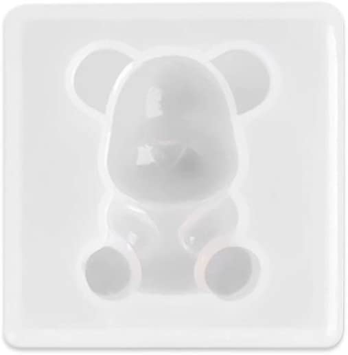 sffff Fashion DIY Key Chain Kids Toys 3D Pendant Mold Jewelry Making Teddy Bear Silicone Mould Tool(Type 5)