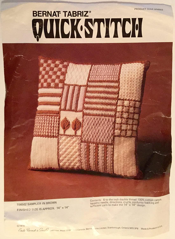 Bernat Tabriz Quick-stitch Kit #WN6502, PARTLY WORKED. 14