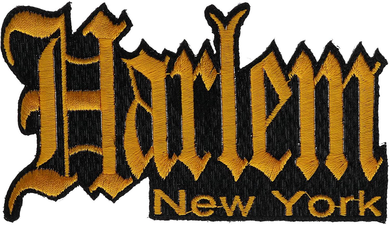 Harlem New York Graffiti Script 4.5 inch hat Cap Shirt Pride Patch PPMKhrlmgld