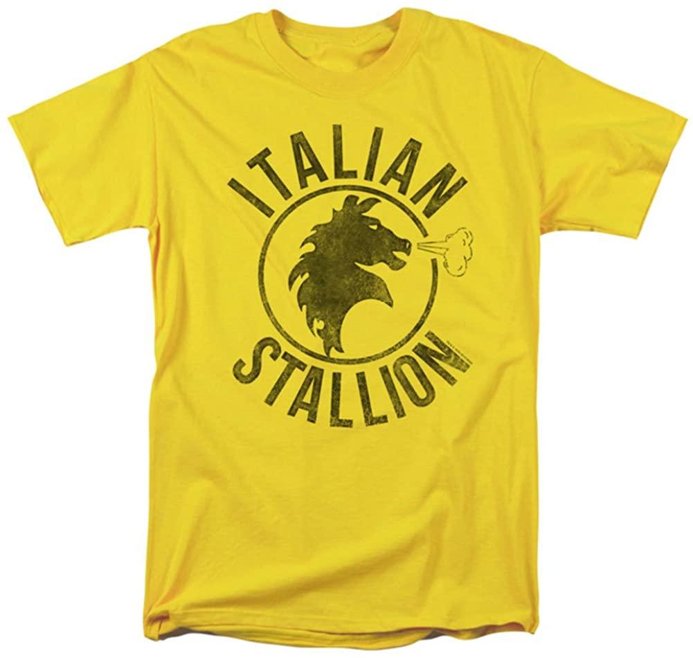 Rocky Mens Italian Stallion Horse T-Shirt Yellow