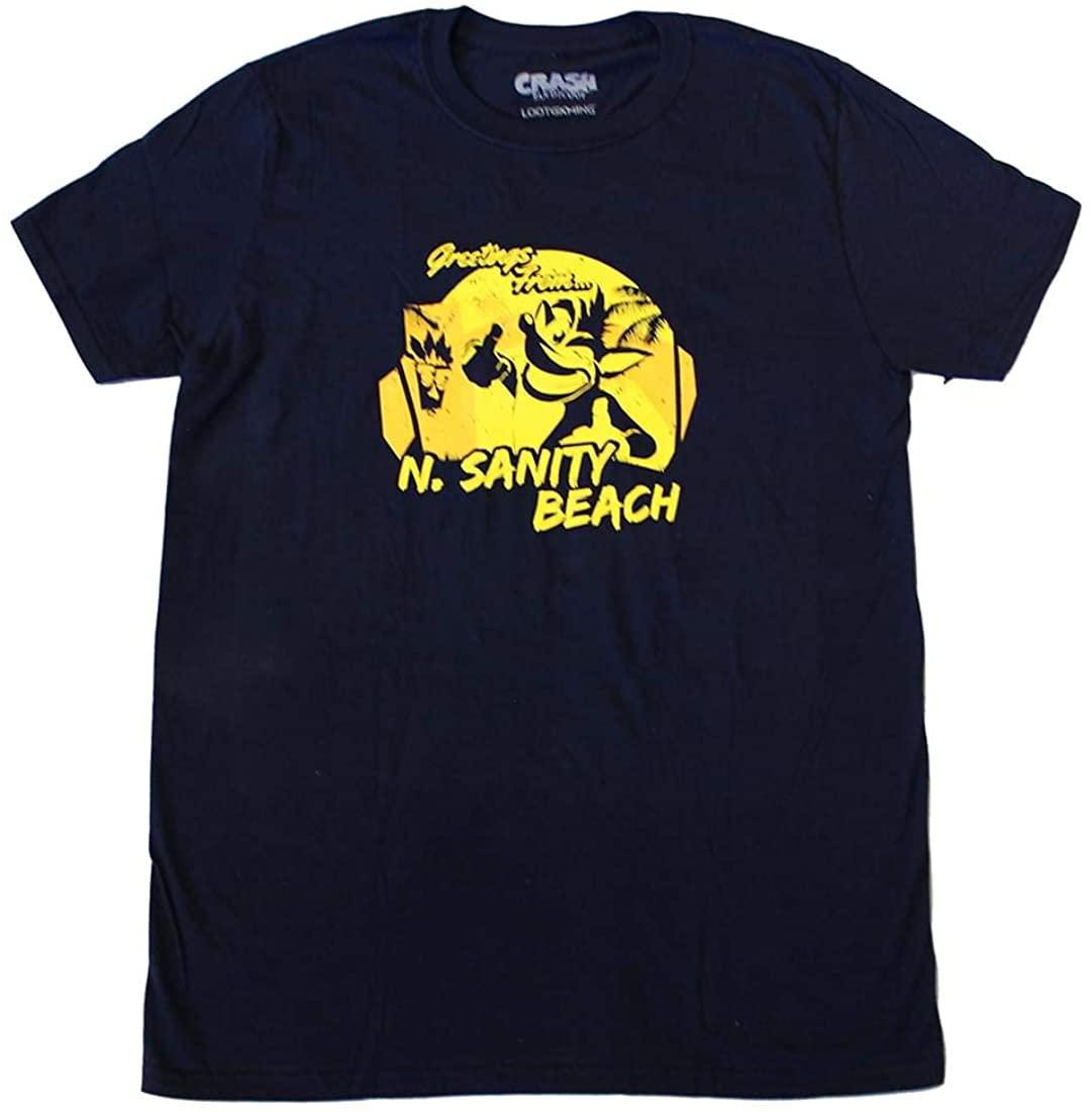 Loot Crate Crash Bandicoot N.Sanity Beach Adult T-Shirt Exclusive