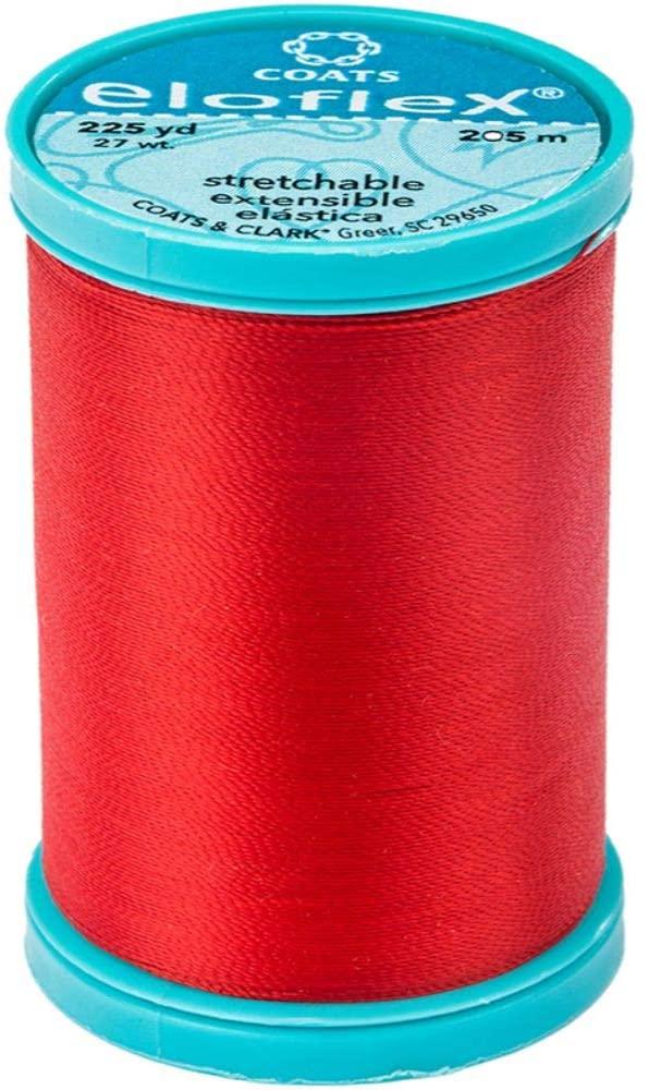 Coats Eloflex Stretch Thread 225yd-atom Red
