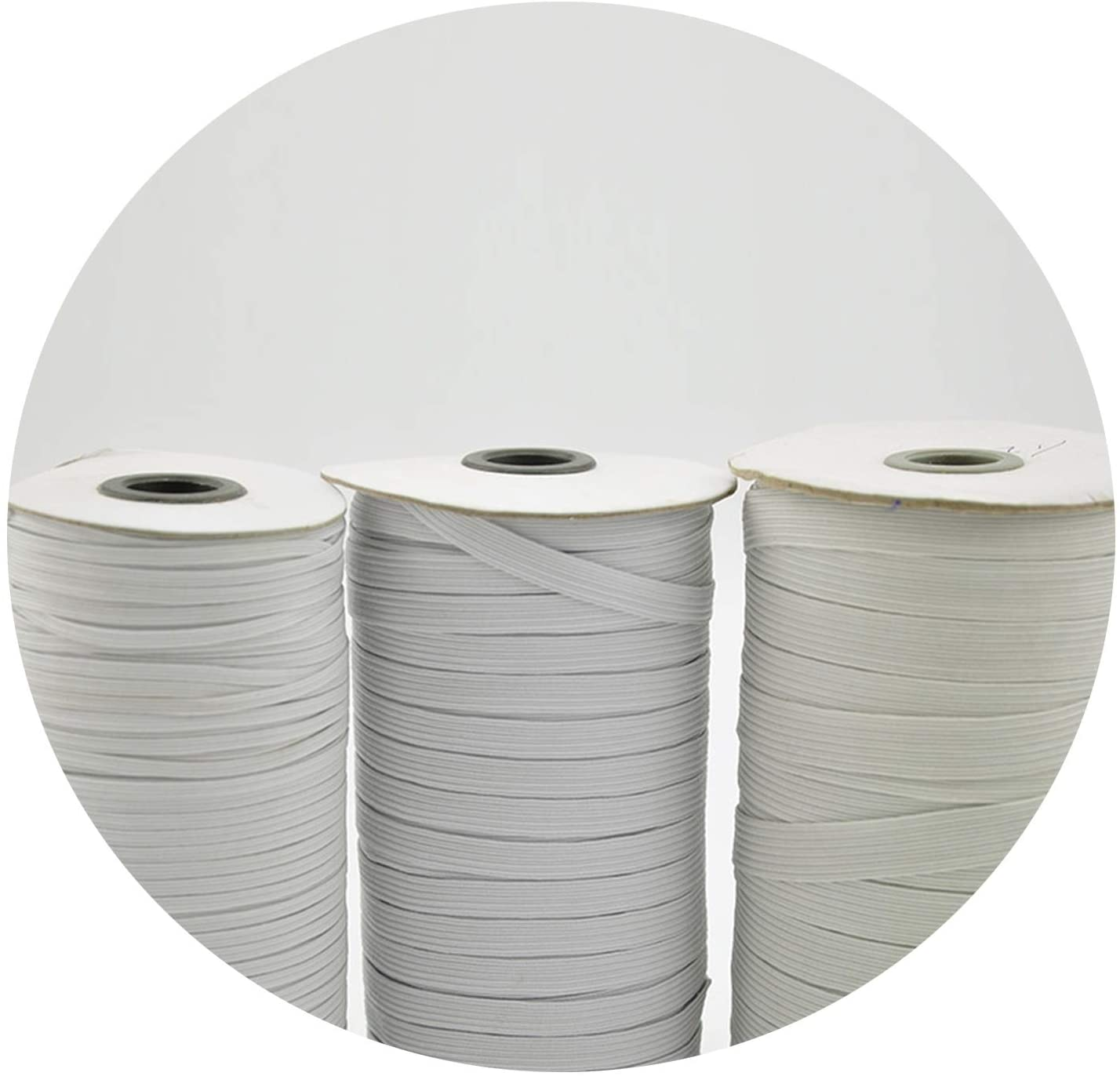 5m/lot Elastic Band for DIY Highest Elastic Bands Garment Trousers Sewing Accessories,White 0.7cm