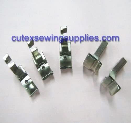 Cutex (TM) Brand HINGED RIGHT SIDE PIPING WELT PRESSER FOOT 5 SIZE SET