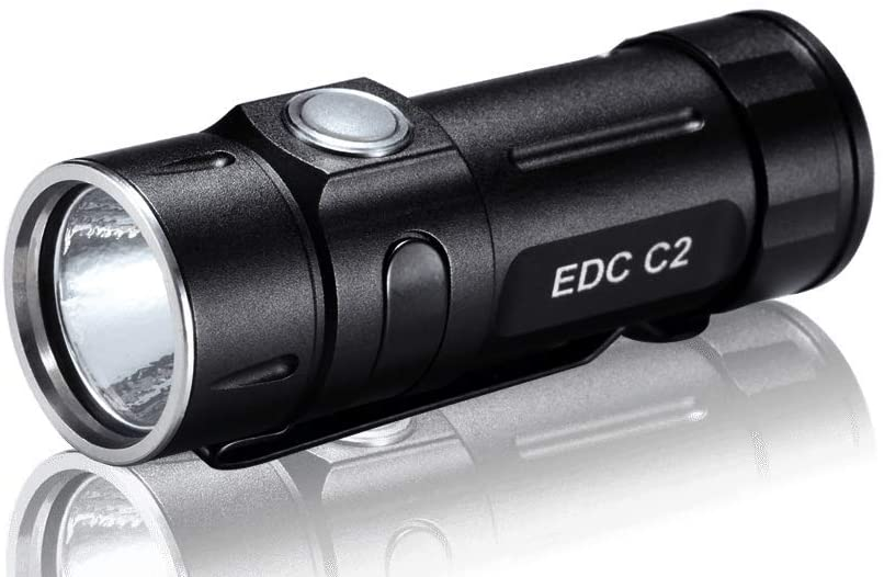 FOLOMOV EDC-C2 High CRI 400 Lumens Flashlight with USB Rechargeable Battery and Magnetic Tail Cap, Ultra Compact
