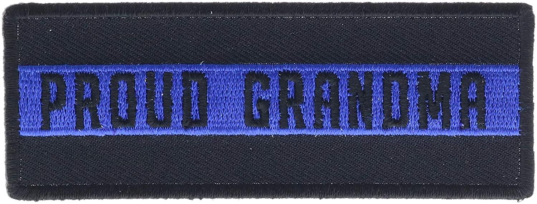 Proud Grandma Blue Lives Matter 4 Embroidered Hat Patch IVANP5158k