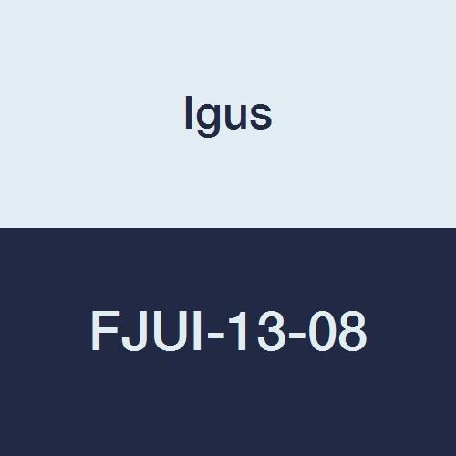 Igus FJUI-13-08 DryLin Square Flange Pillow Block for Self-Aligning Bearing, Aluminum/Plastic, 1/2 Bearing ID