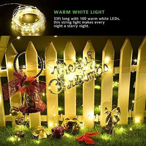 Your Store Super Quality Golden Waterproof Festival Christmas Diwali String Decoration Light Decorative Lighting (40 Feet)