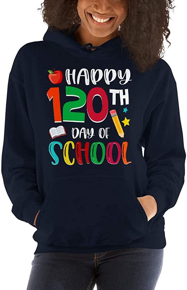 TEEPOMY Happy 120 Days of School 120th Day Teacher Student Unisex Hoodie