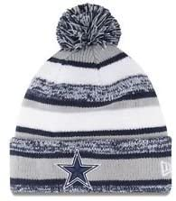 New Era New! Dallas Cowboys Sport Knit On Field Embroidered Pom Beanie Cap