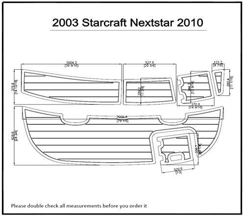ZY 2003 Starcraft Nextstar 2010 Swim Platform Pad Boat EVA Teak Decking 1/4