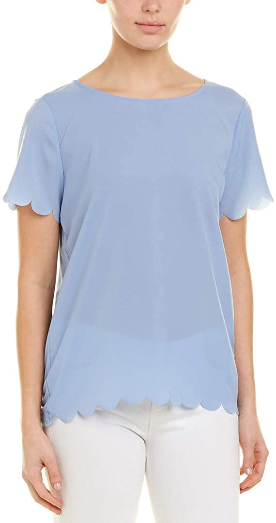 French Connection Womens Crepe Bateau Neck Top