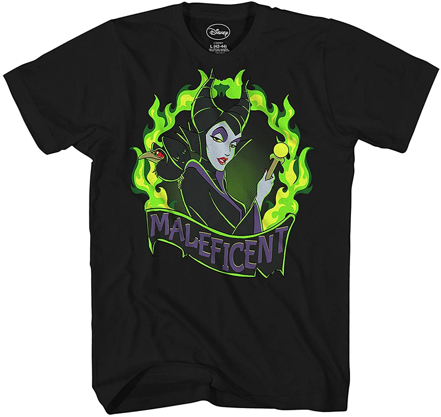 Disney Maleficent Fire Flame Villain Sleeping Beauty Mens T-Shirt