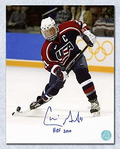 Cammi Granato Team USA Autographed Olympic Hockey Action 8x10 Photo - Autographed NHL Photos