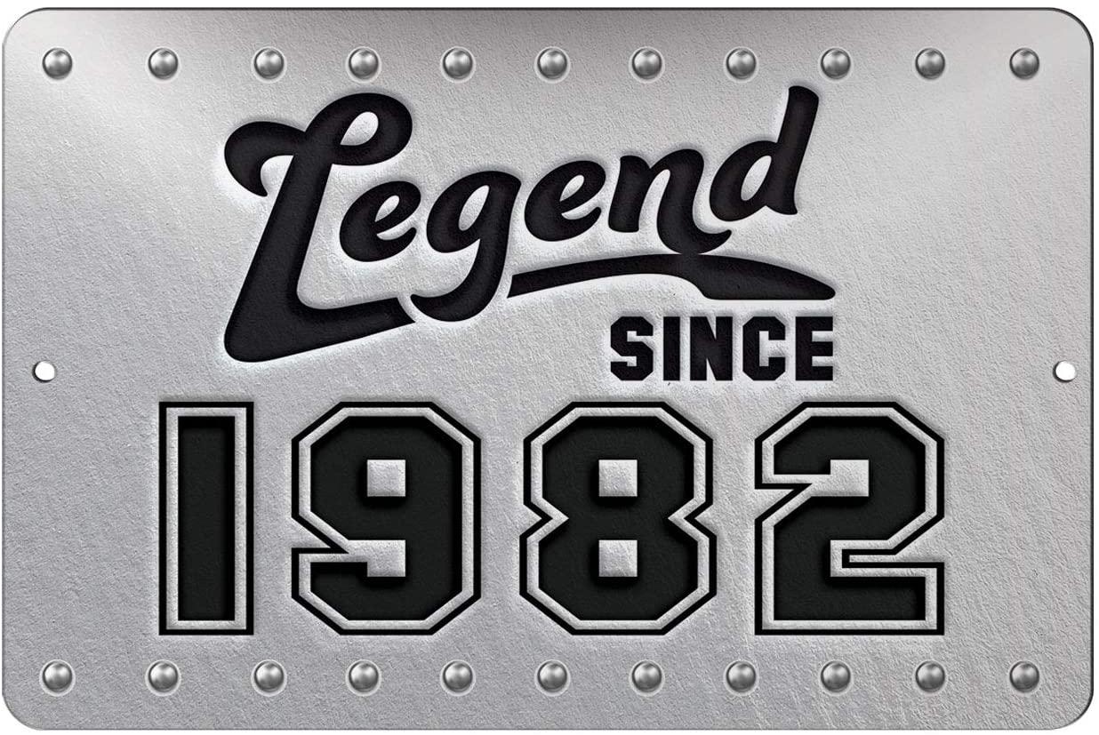 Makoroni - Legend Since 1982 12x18 inc Birthday Aluminum Decorative Wall Street Sign