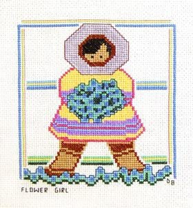Flower Girl Counted Cross Stitch Pattern
