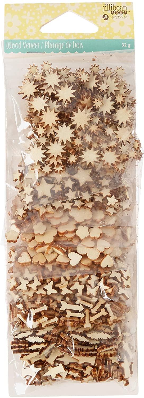 Hampton Art Jillibean Soup Shaker Filler 8/Pkg-Wood Veneer