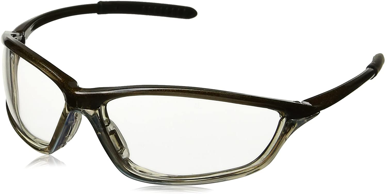MCR Safety SH130AF Shock Safety Glasses with Chameleon/Clear Chrome Frame and Clear Anti-Fog Lens