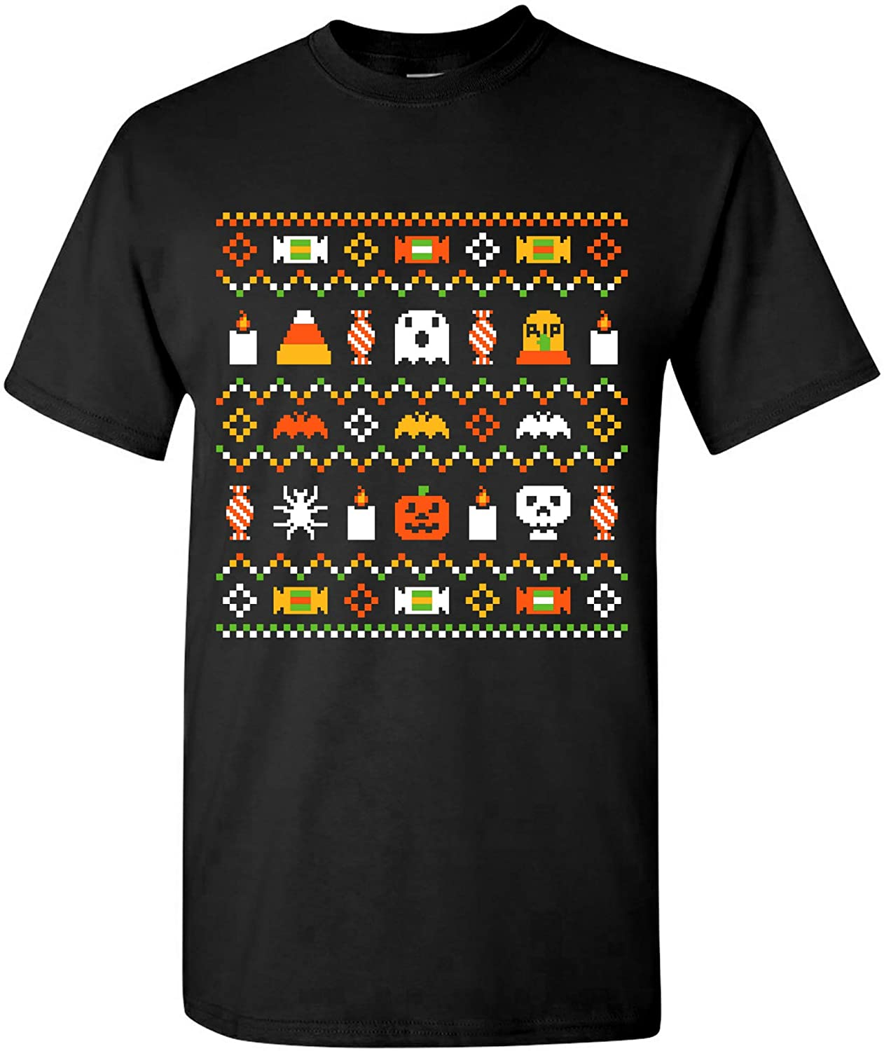 UGP Campus Apparel Halloween Ugly Sweater - Funny Spooky Ghost Halloween Costume T Shirt