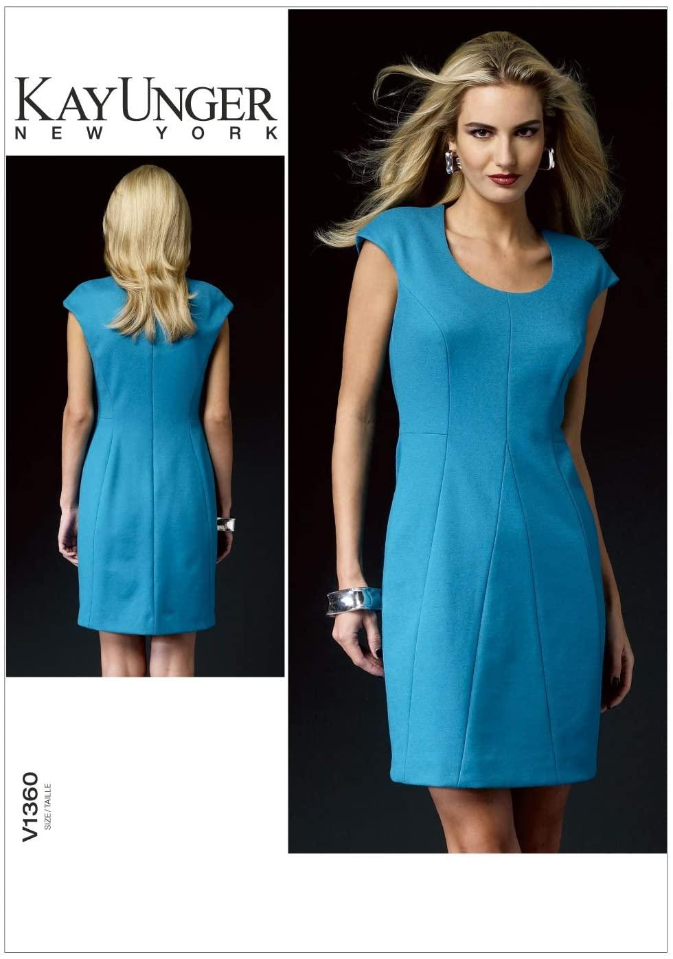 Vogue Patterns V1360 Misses' Dress Sewing Template, Size B5 (8-10-12-14-16)