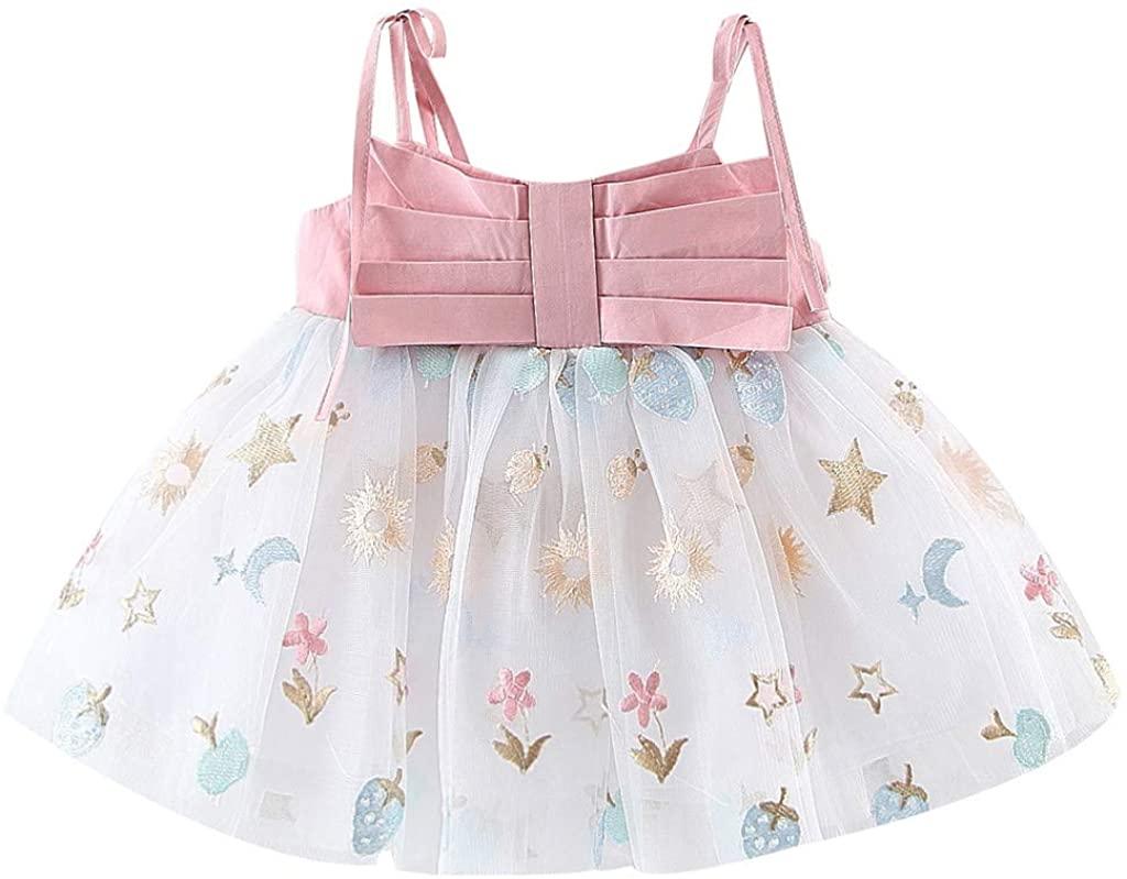 ZEFOTIM Toddler Baby Kids Girls Strap Tulle Print Dress Princess Dresses Clothes 6-24M 2-3Y