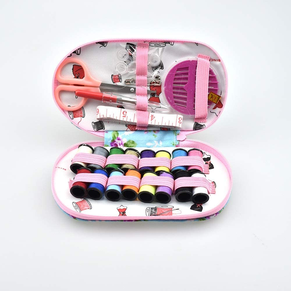 Embroidery Thread Mini Travel Sewing Kits Portable Case Box with Needle Threads Pin Scissor Sewing Set Home DIY Tools 30pcs MDYHJDHYQ