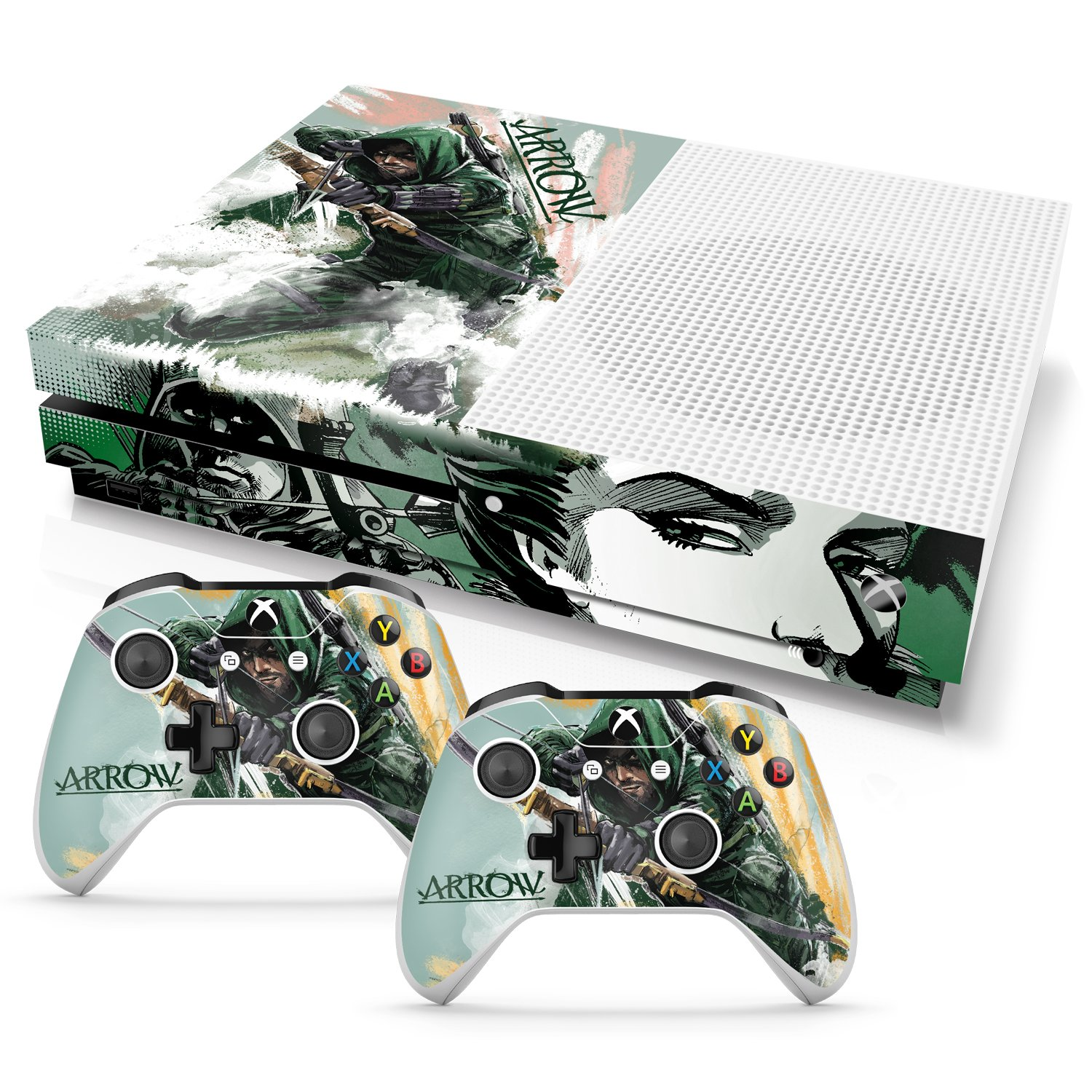 Controller Gear Officially Licensed By Xbox and WB Console and Dual Controller Combo Skin Arrow: Shoot to Kill Design for Xbox One S. Protective Vinyl Cover - Xbox One