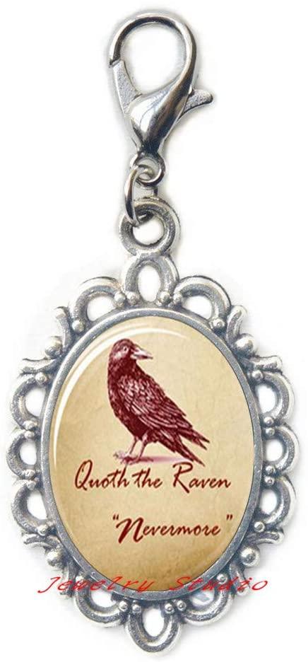 Raven Zipper Pull Raven Jewelry Bird Nest Lobster Clasp Wearabel Art Bridesmaid Jewelry Unique jewelry-HZ0098