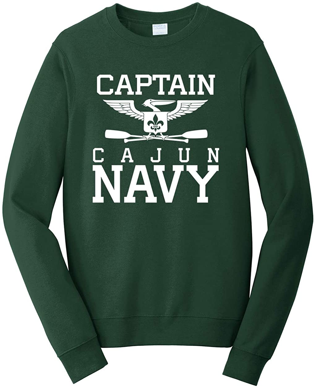 Tenacitee Men's Captain Cajun Navy Sweatshirt