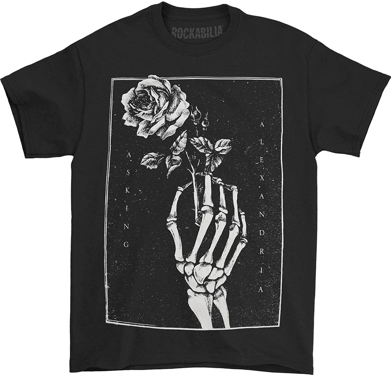 Asking Alexandria Men's Skeleton Rose T-Shirt Black