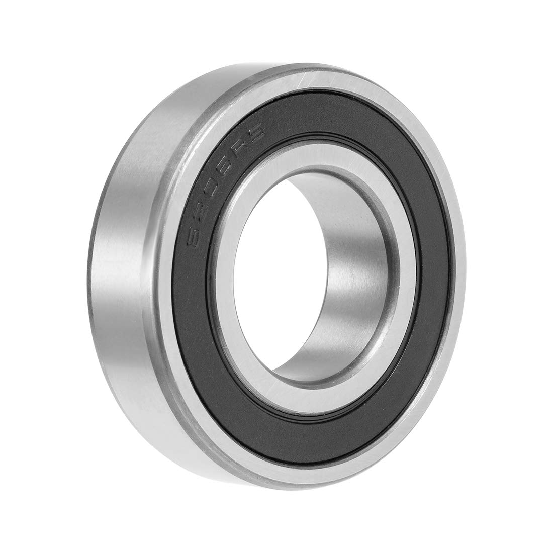 uxcell 6206-2RS Deep Groove Ball Bearing 30x62x16mm Double Sealed Chrome Steel Bearings 1-Pack
