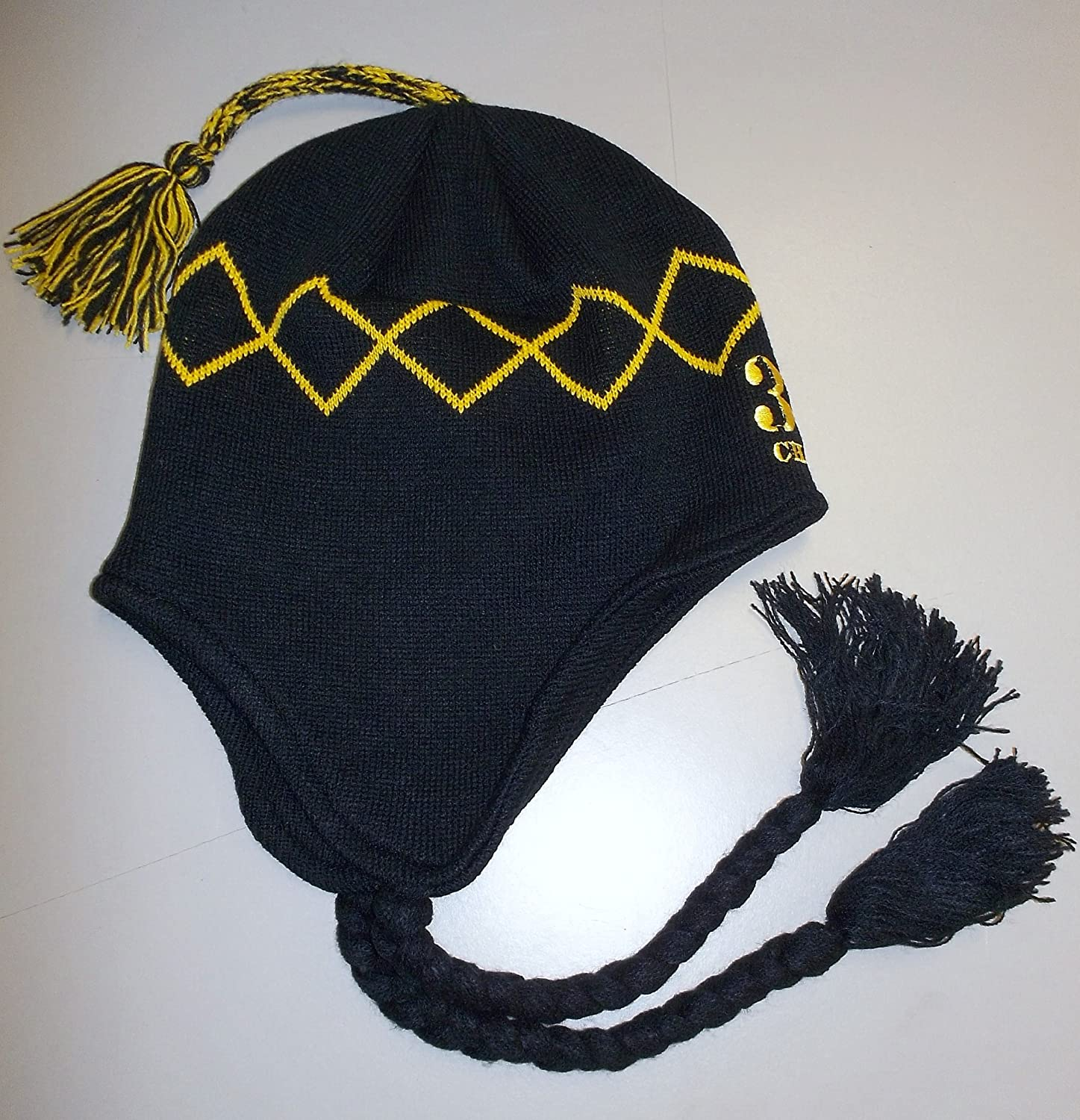 NHL Boston Bruins Chara 33 Long Tassel Top with Braids Knit Hat - OSFA - KZF35