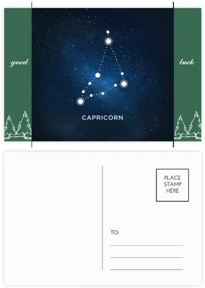 Capricorn Constellation Zodiac Sign Good Luck Postcard Set Card Mailing Side 20pcs