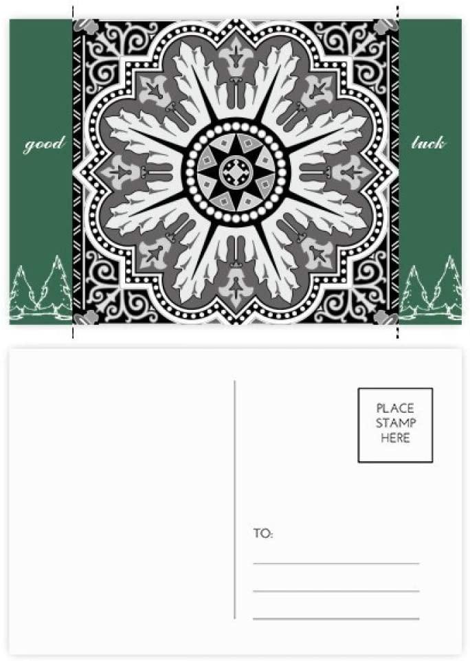 Black White Arabic Style Pattern Good Luck Postcard Set Card Mailing Side 20pcs