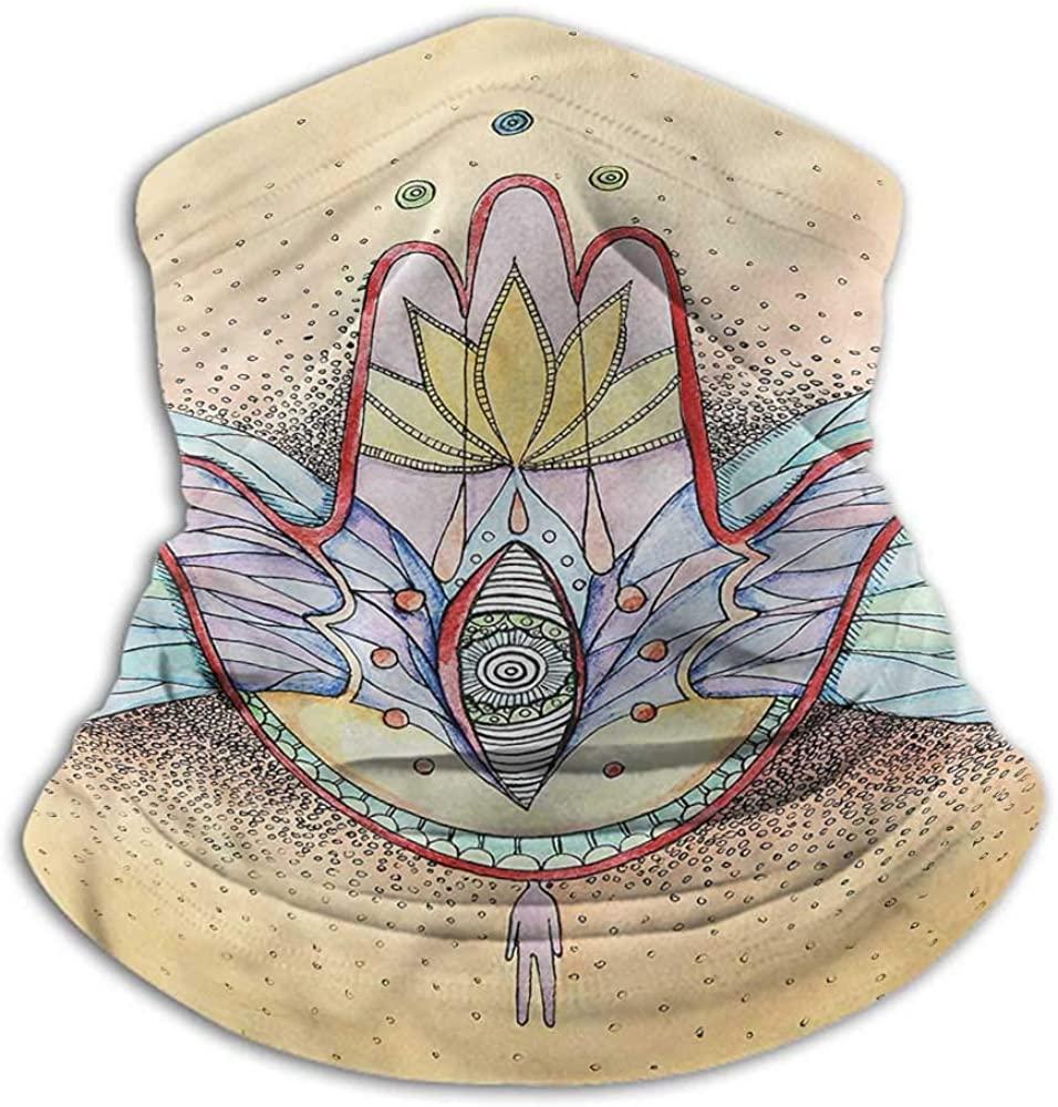 Scarfs For Women Hamsa For Winter Multifunctional Wings Eye Mystical Icon 10 x 12 Inch