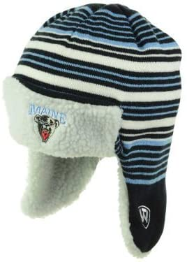 Maine Black Bears Knit Trooper Beanie One Size Fits All OSFA NCAA Authentic Hat Cap - Team Colors