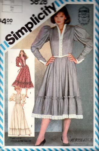 Simplicity 5828 Vintage Gunne Sax Dress Sewing Pattern Check Offers for Size